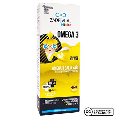 Zade Vital Miniza Omega 3 Balık Yağı 150 mL