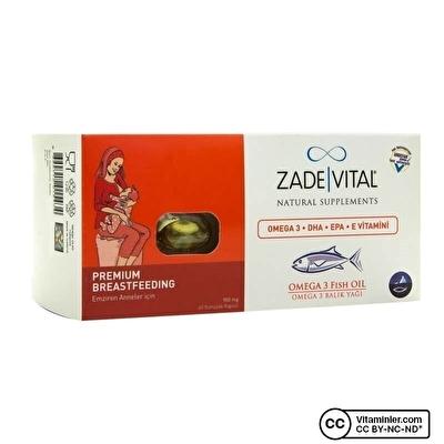 Zade Vital Omega 3 Balık Yağı 900 Mg Emziren Anneler İçin 60 Kapsül