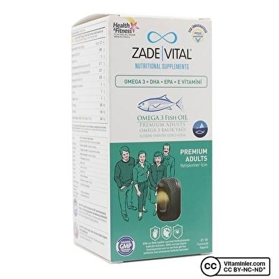 Zade Vital Omega 3 Balık Yağı 900 Mg Yetişkinler için 50 Kapsül