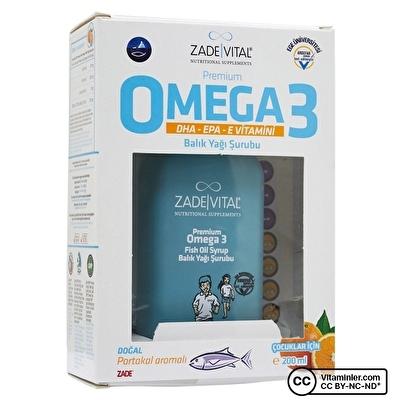 Zade Vital Omega 3 Balık Yağı Şurubu Çocuklar İçin 200 ML