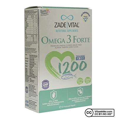 Zade Vital Omega 3 Forte 40 Kapsül