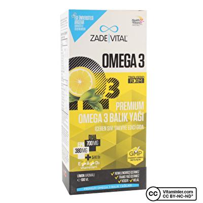 Zade Vital Premium Omega 3 Balık Yağı Şurubu 100 mL