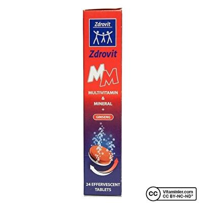 Zdrovit Multivitamin & Mineral+Ginseng Efervesan 24 Tablet